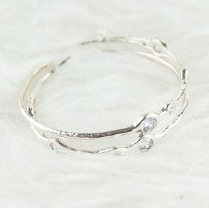 ⭕ [MUST BUNDLE] H&M | Silver & Diamond Earrings